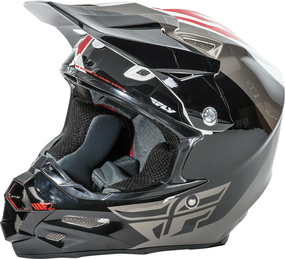 FLY RACING F2 CARBON PURE HELMET WHITE/BLACK/GREY