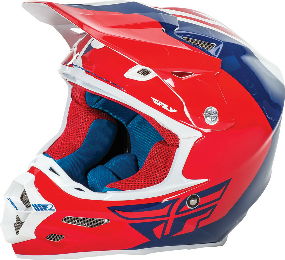 FLY RACING  F2 CARBON PURE HELMET RED/BLUE/WHITE
