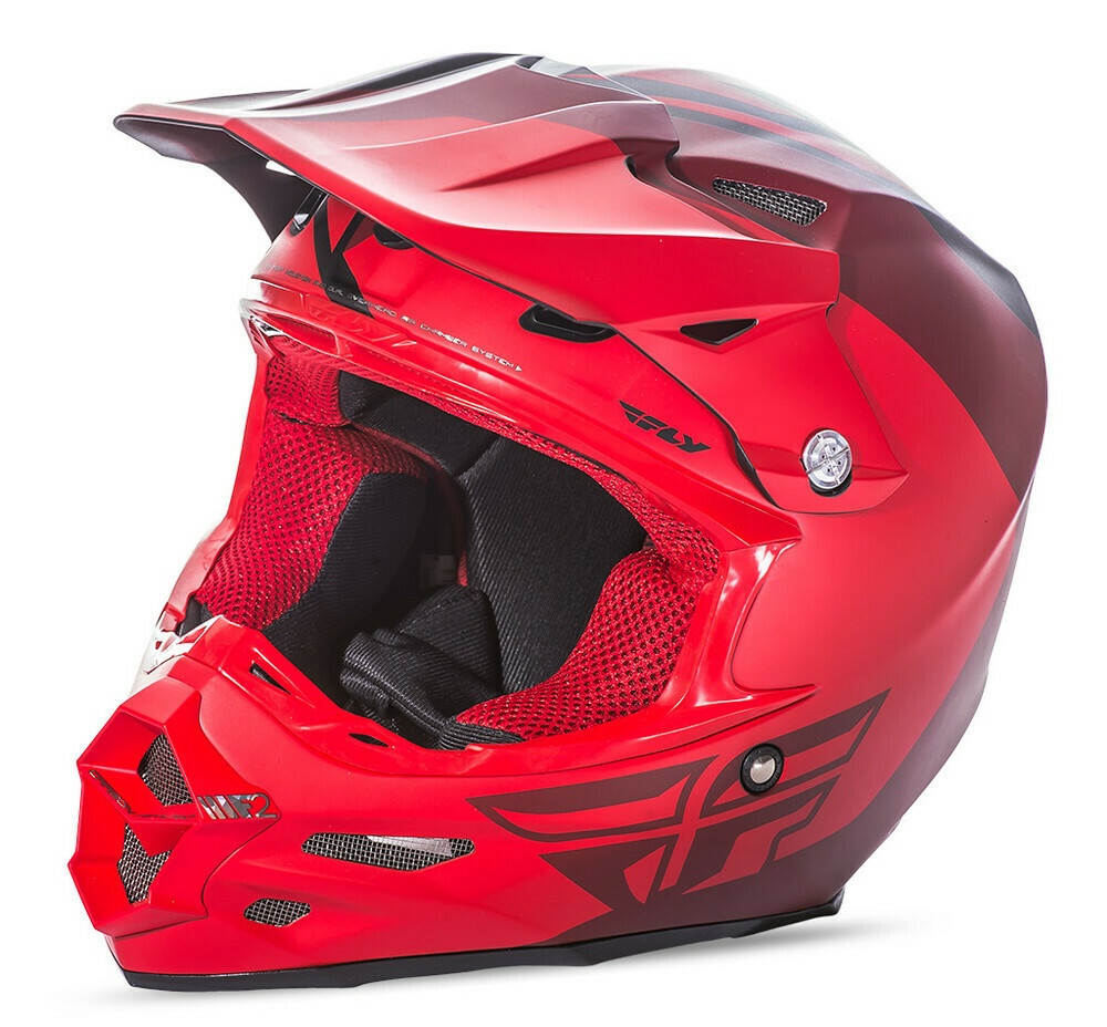 FLY RACING F2 CARBON PURE HELMET MATTE RED/BLACK