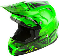 FLY RACING TOXIN EMBARGO HELMET NEON GREEN/BLACK