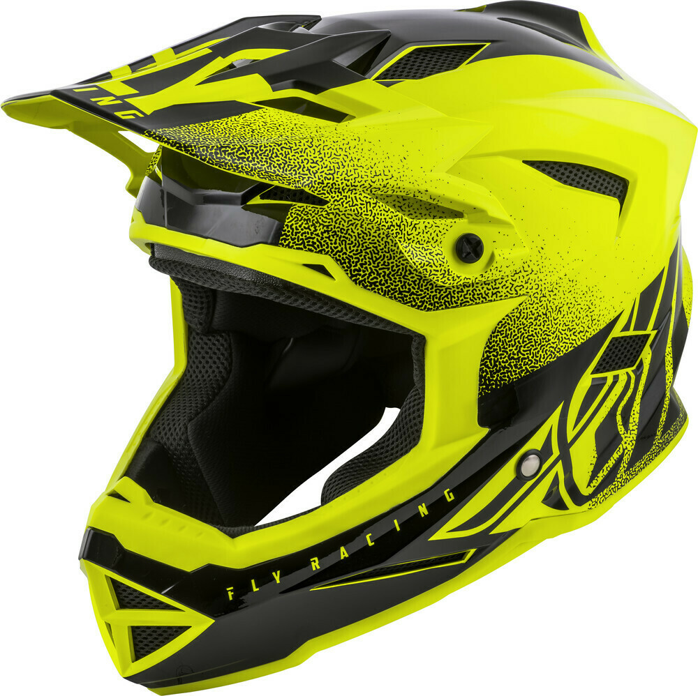 FLY RACING DEFAULT HELMET HI-VIS YELLOW/BLACK