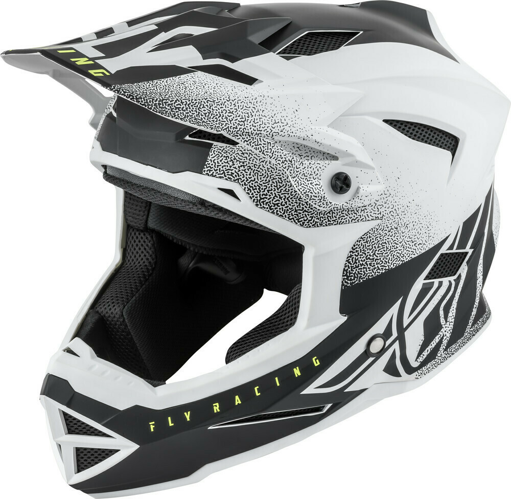 FLY RACING DEFAULT HELMET MATTE WHITE/BLACK