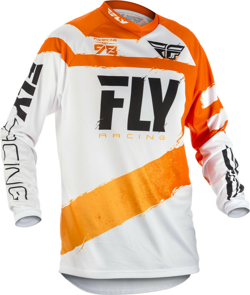 FLY RACING F-16 JERSEY ORANGE/WHITE