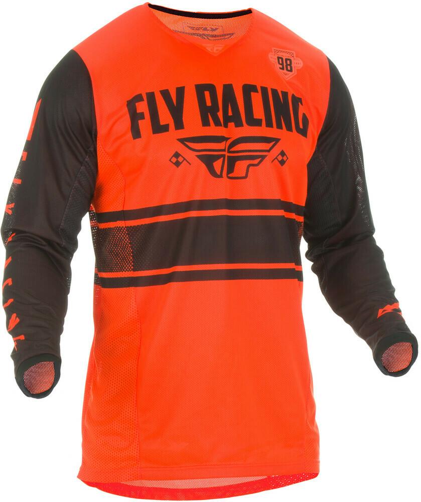 FLY RACING KINETIC MESH ERA JERSEY NEON ORANGE/BLACK