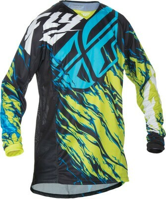 FLY RACING KINETIC RELAPSE JERSEY LIME/BLUE