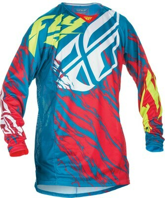 FLY RACING KINETIC RELAPSE JERSEY TEAL/RED