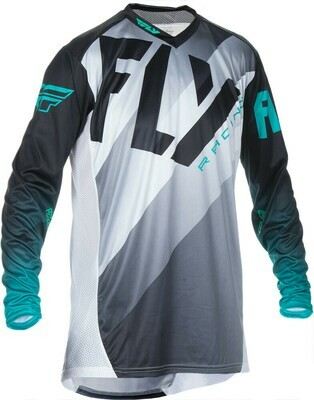 FLY RACING LITE JERSEY BLACK/WHITE/TEAL