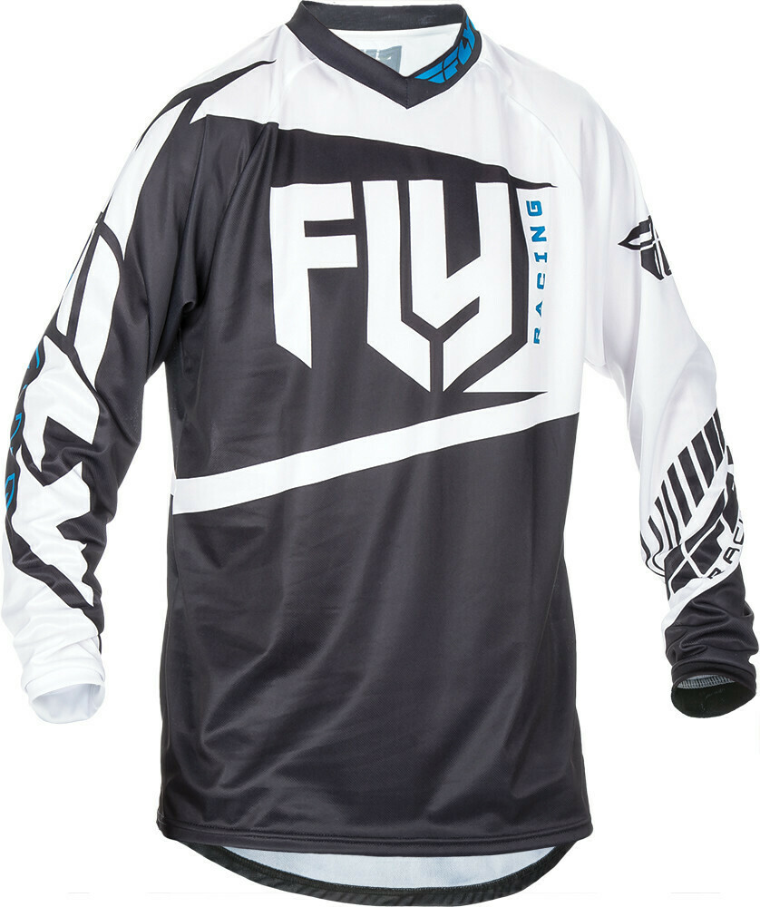 FLY RACING F-16 JERSEY BLACK/WHITE