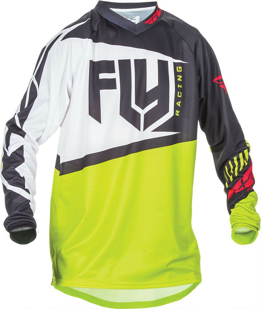 FLY RACING F-16 JERSEY BLACK/LIME