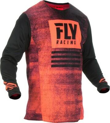 FLY RACING KINETIC NOIZ JERSEY NEON RED/BLACK