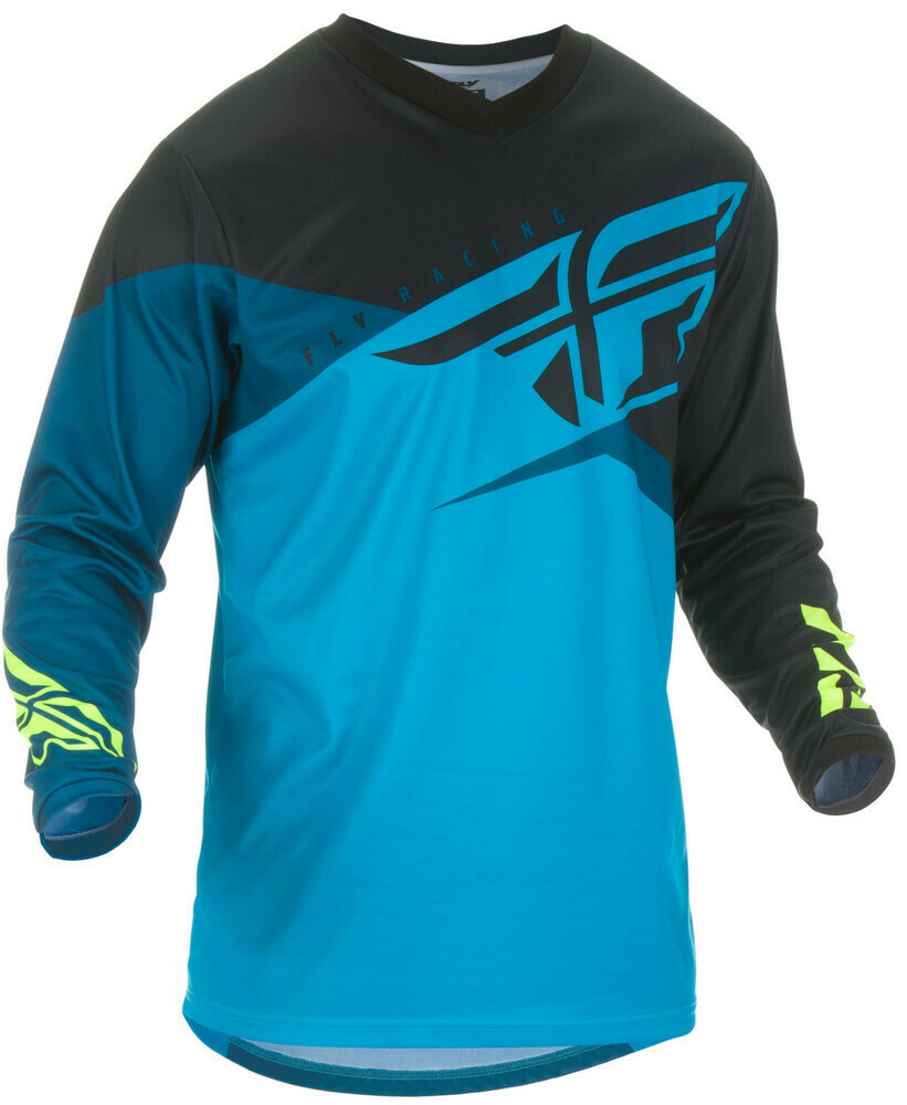 FLY RACING F-16 JERSEY BLUE/BLACK/HI-VIS