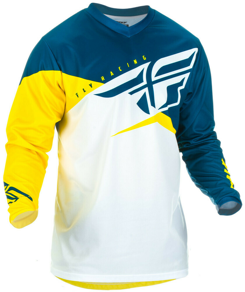 FLY RACING F-16 JERSEY YELLOW/WHITE/NAVY