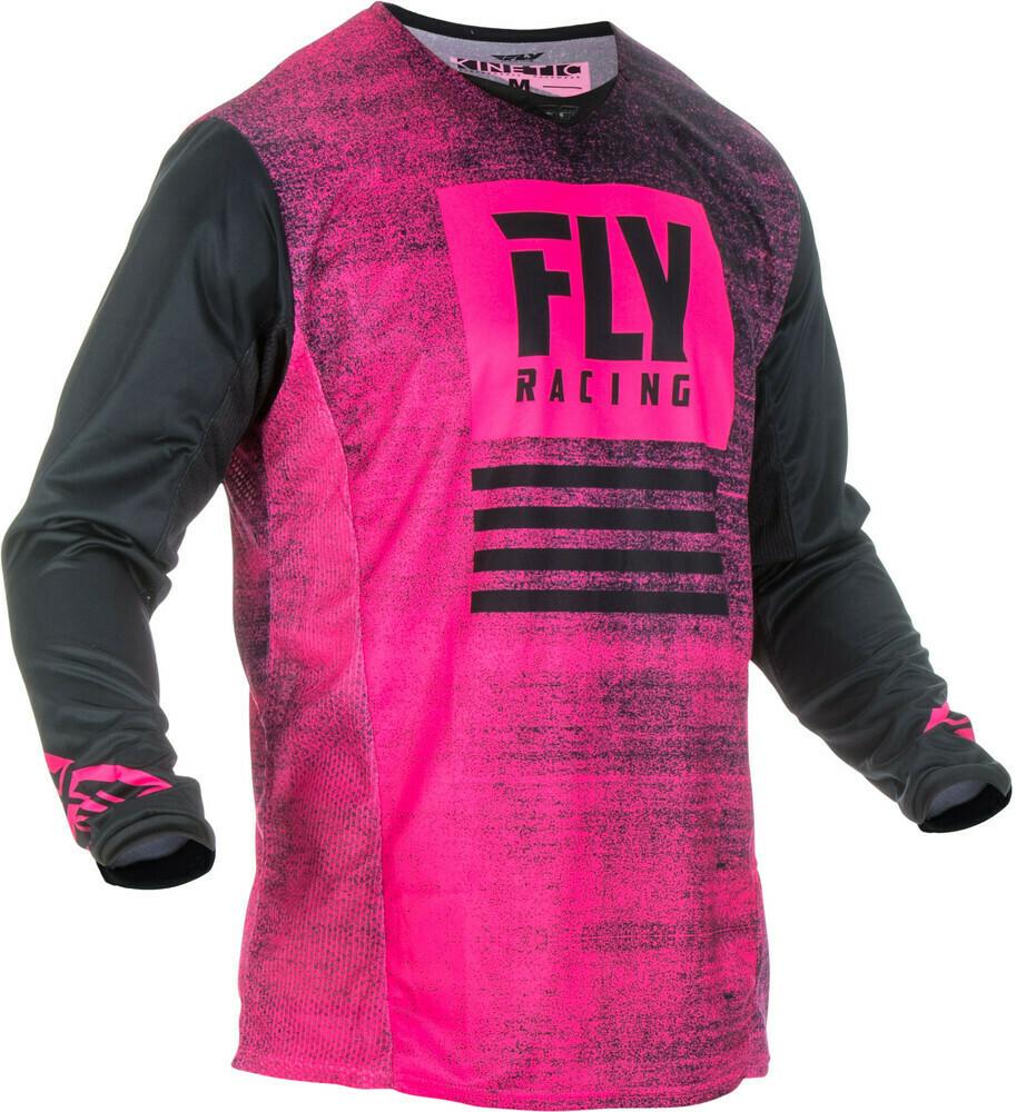 FLY RACING KINETIC NOIZ JERSEY NEON PINK/BLACK
