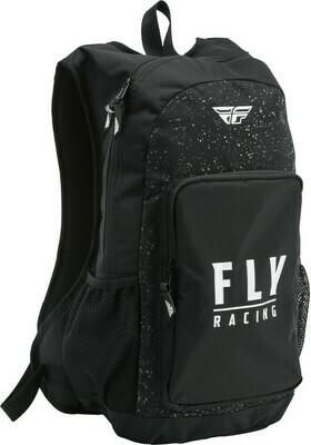 FLY RACING JUMP PACK BACKPACK BLACK/WHITE SPLATTER