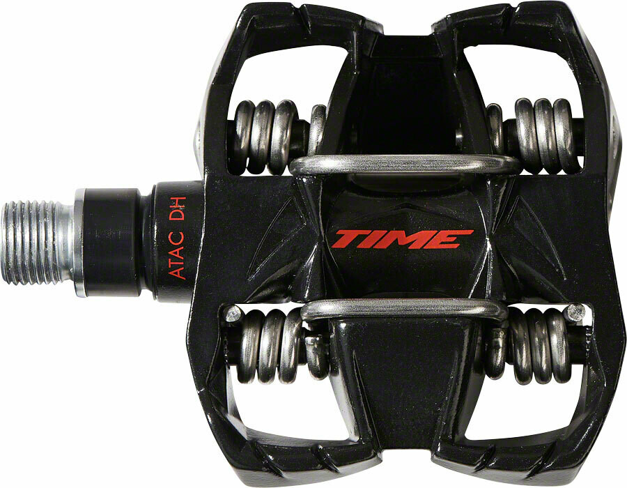"Time ATAC DH 4 Pedals - Aluminum, 9/16"", Black/Red"