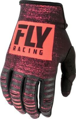 Kinetic Noiz Gloves Neon Red/Black