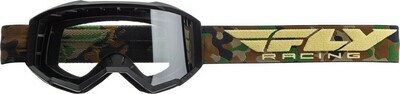FLY RACING FOCUS GOGGLE CAMO W/CLEAR LENS