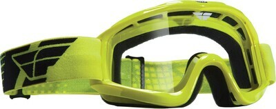FLY RACING FOCUS GOGGLE HI-VIS W/CLEAR LENS