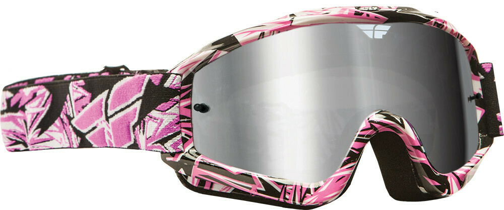 FLY RACING ZONE PRO GOGGLE PINK W/ CHROME/SMOKE LENS