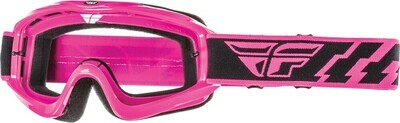 FLY RACING FOCUS GOGGLE PINK W/CLEAR LENS