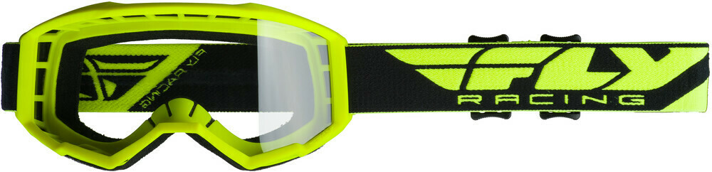FLY RACING FOCUS GOGGLE HI-VIS YELLOW W/CLEAR LENS