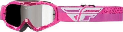 FLY RACING 2018 ZONE COMPOSITE GOGGLE GREY/PINK W/CHROME LENS