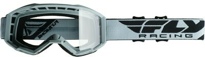 FLY RACING FOCUS GOGGLE GREY W/CLEAR LENS