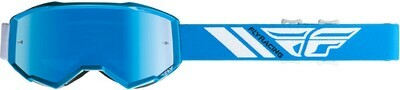 FLY RACING ZONE GOGGLE BLUE W/SKY BLUE MIRROR LENS W/POST