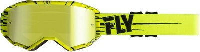 FLY RACING ZONE GOGGLE PINK/TEAL W/SKY BLUE MIRROR LENS W/POST
