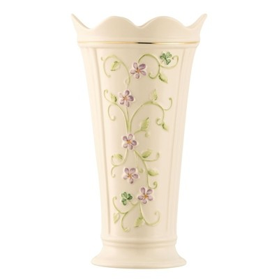 Belleek - Irish Flax Vase 9.5