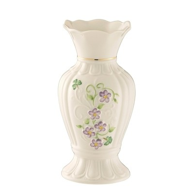 Belleek - Irish Flax Vase 7