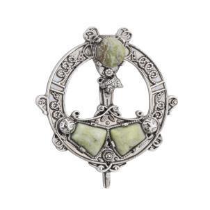 Connemara Marble Tara Brooch