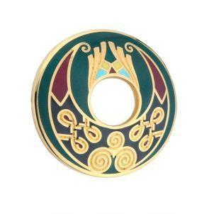 Enamel Celtic Circle Brooch