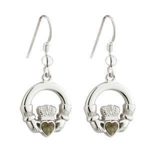 Connemara Marble Claddagh Earrings