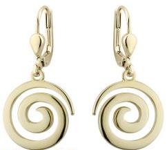Gold Plated Swirl Drop Earrings