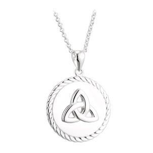 Sterling Silver Trinity Knot Medal Pendant