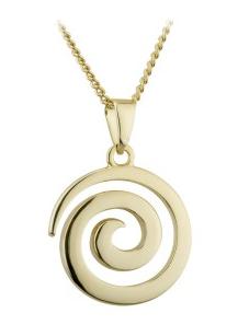 Gold Plated Swirl Pendant