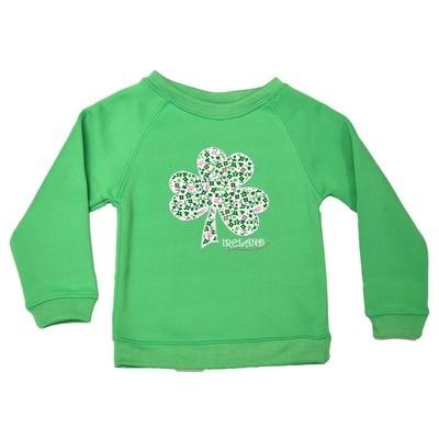 Apple Green Shamrock Kids Sweatshirt