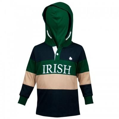 Kids Irish Hooded Rugby Jersey