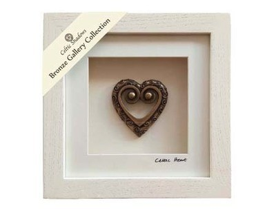 Cream Framed Celtic Heart - Shadow Box