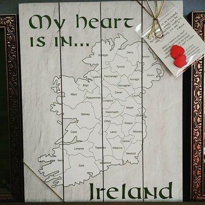 My Heart is in Ireland - Pallet Art