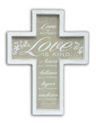 Love is Patient Framed Cross