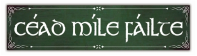 Cead Mile Failte Porch Sign