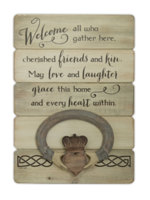 Irish Welcome Plank Wall Plaque