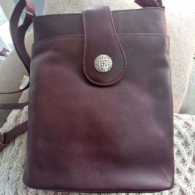Torc Silver Knot Leather Bag