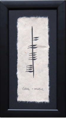 Ogham Plaque - Ceol - Music