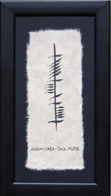Ogham Plaque - Anam Cara- Soul Mate