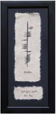 Custom Ogham Plaque - Baby Name