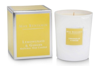 Max Benjamin Lemongrass & Ginger Luxury Scented Candle