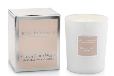 Max Benjamin French Linen Water Luxury Scented Candle